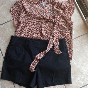 Ann Taylor dark denim shorts EUC